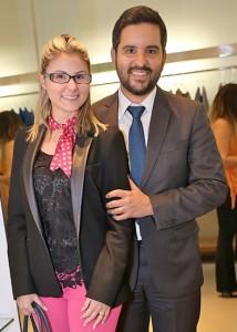 O Dr. Francisco Ortigão e a Dra. Michelle Gaetani prestigiaram a inauguração da loja Bles na semana do Fashion Mall Store, em São Conrado.