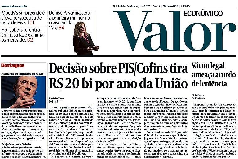 FRANCISCO ORTIGÃO FALA AO JORNAL VALOR ECONÔMICO