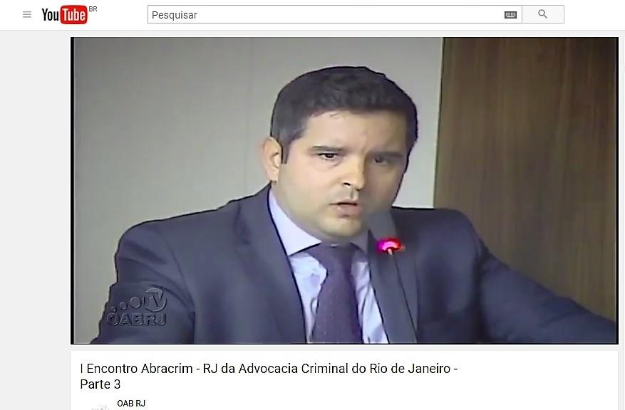 Francisco Ortigão em transmissão ao vivo pelo Youtube do I Encontro Abracrim-RJ